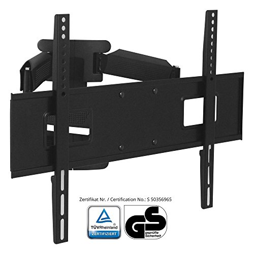 XOMAX ® XM-WH108 Support mural pour LED / LCD / Plasma / TV / écran jusqu'à 45(!) kg + Extensible, pivotant, inclinable, orientable + 32 - 65 pouces + Standards VESA : 600x400, 600x300, 600x200, 400x400, 400x200, 200x200, 200x100, 100x100 + Distance du mur 55 - 470 mm + Robuste (acier/métal) + Compatible avec toutes les marques TV + Matériel d'assemblage inclus