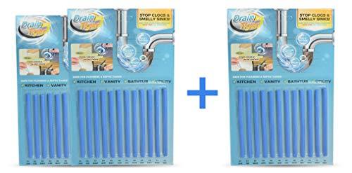 DrainTiger - Stoppe stinkende und verstopfte Abflüsse  Enzymreiniger für verstopfte Rohre in Bad, Dusche und Küche   Rohrreiniger - Abflussreiniger (36 Sticks)