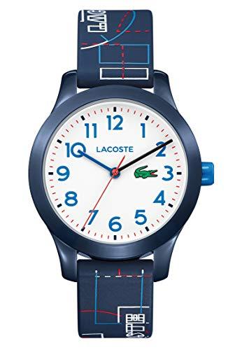 Lacoste Mixte Enfant Analogique Quartz Montres bracelet avec bracelet en Silicone - 2030008