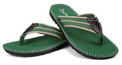 Fortuning's JDS Männer stilvolle Sandalen Flip-Flops Flip-Flops Grün