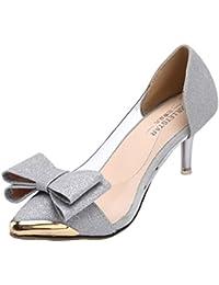 AgeeMi Shoes Mujeres Zapatos de Tacón Elegante Cerrado Tacón Alto Zapatos