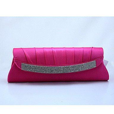 Mode Femmes long diamant simple sac à main,Fuchsia