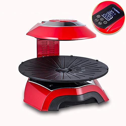 YZPDSKJ 3D-Ferninfrarot-Intelligenz 1200 W Elektrogrill Einstellbare Temperatureinstellungen Ideal für den Innen- und Außenbereich, rauchfrei, antihaftbeschichtet, leicht zu reinigen (Color : Red)