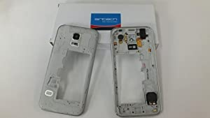 Original Samsung Galaxy S5 Mini G800f Mittelrahmen Gehäuse inkl Audio Jack Buzzer Hörmuschel Flex Silber