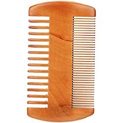 Beard Brush Kit, Men Facial Beard Cleaning Brocha de Afeitar Face Massager Groooming Appliance Tool(Beard Comb)