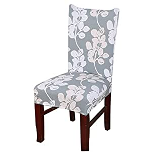 Dining Room Stretch Printed Chair Cover Spandex Lycra