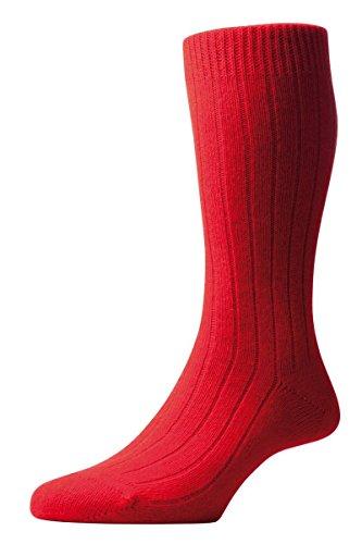 Red Waddington Rib Luxury Cashmere Calze - grande di