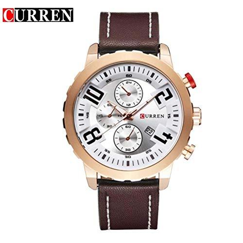 xisnhis schöne Uhren curren8193 Sport großen wählen männer gürtel Quarz - Uhr - Kalender