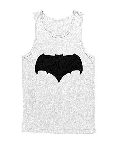 Knight Arkham Origins Kostüm Batman Dark - Hypeshirt Tank-Top Bat V Super Comic Kostüm C980002 Weiß L