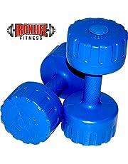 IRONLIFE FITNESS 2 KG X 2 PVC Dumbbells Weights Fitness Home Gym Exercise Barbell (Pack of 2) Light Heavy for Women & Men's Dumbbell (2X2)