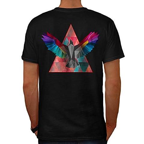 Géométrique Oiseau Mode Oiseau Vol Men L T-shirt le dos | Wellcoda