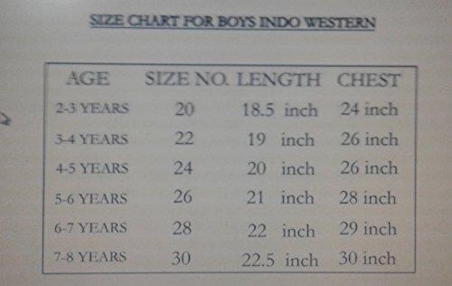Stylokids Cream and Maroon Silk Indowestern Kurta Dhoti for Boys(28,6-7 yrs)