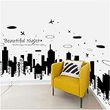 Lnkjet Belle Nuit Étoilée Nuit Ville Autocollant Mural Moderne PVC Art Fond Décor À La Maison Sticker Mural 60 * 90 cm