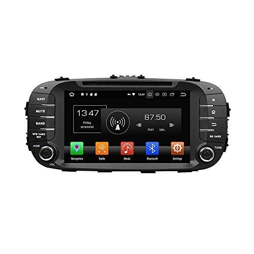 Kunfine Android 8.0Octa Core lettore DVD multimediale di navigazione GPS Car stereo per KIA Soul 201420152016autoradio controllo del volante con 3G WiFi Bluetooth libero SD mappa