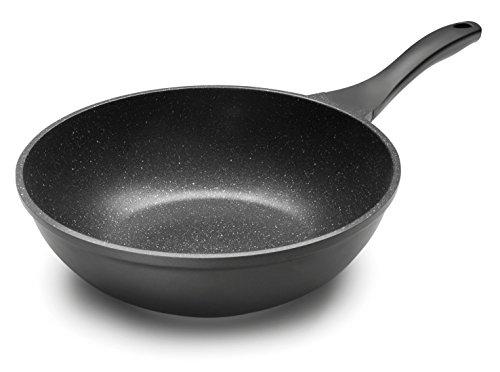 Lacor - 24138 - Wok Eco Piedra Aluminio 28 cm - Negro