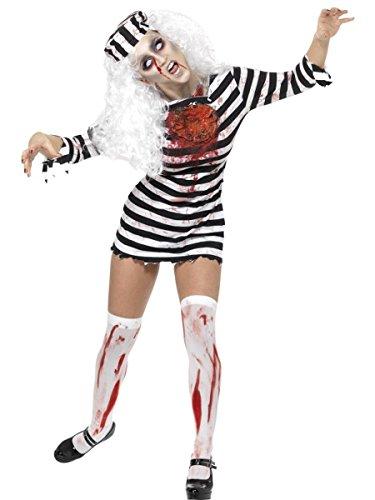 Damen Kostüm Zombie Sträfling Gangsterbraut Halloween Gr.L