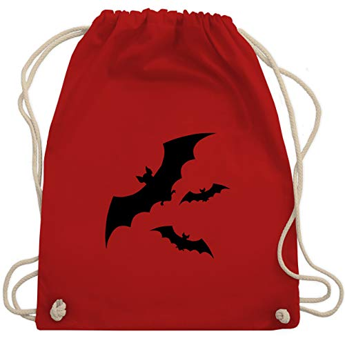 Halloween - Fledermäuse - Unisize - Rot - WM110 - Turnbeutel & Gym Bag