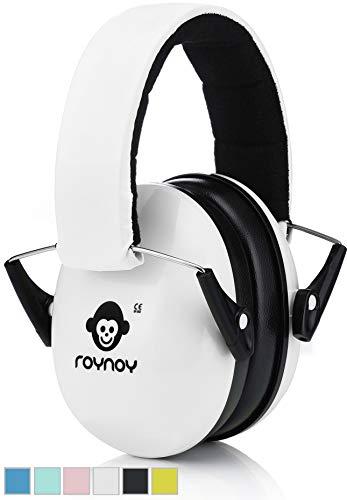 roynoy | Gehörschutz Kinder und Baby | ab 2 Jahre | Ohrenschutz Kinder | Ohrenschützer | Lärmschutz Baby | Lärmschutzkopfhörer Kinder (Weiß)
