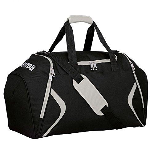 LUTHER Bestseller-Tragetasche (groß) mit 3 Fächern von Erreà · UNISEX Herren Damen Jugendliche Sporttasche (Gym Bag) aus robustem Material für Individual- & Teamsport · UNIVERSAL Fitness-Tasche (Trainingstasche) ideal für Indoor- und Outdoorsport · TREND Reisetasche (Schultertasche) für Training, Freizeit & Alltag (schwarz - grau) (Nike Mesh-jugend)