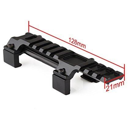 VERY100 MP5/G3/MP5K 20mm Montageschiene Luftgewehr Weaver Picatinny Schiene Verlängerung Erhöhung Zielfernrohr Montage länge 128mm