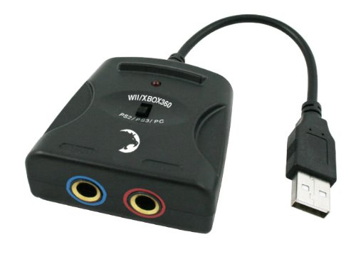 USB Audio Mikrofon Adapter für Singstar universal für PS2 PS3 Xbox360 Wii Wii U PC