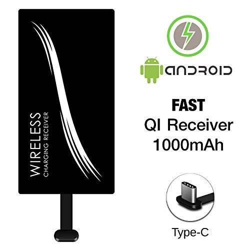 WELIGHT Qi Wireless Ladegerät Empfänger Receiver Type C USB-C Induktions Ladegerät für Android Smartphone Samsung Huawei