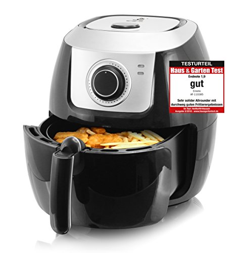 """Emerio Heißluftfritteuse, Airfryer, Smart Fryer, Test \""""GUT\"""", Frittieren ohne Öl, 5,5 Liter Volumen, 1800 Watt, AF-110385"""
