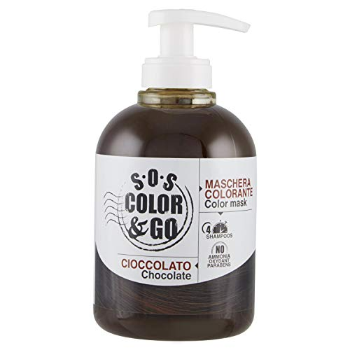 S.O.S COLOR & GO Reflex-Maske und Krawatte Schokolade 300 ml