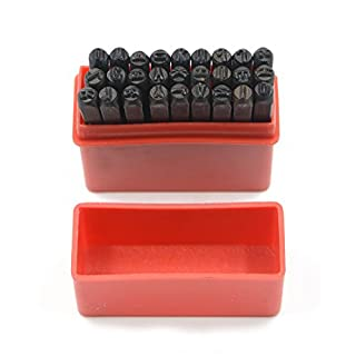 Marking Stamps Steel Hand Metal Set Punch Letters Alphabet & Numbers Die Tool Craft in Plastic Case (4mm Letter)