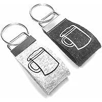Schlüsselanhänger Bier Wollfilz personalisiert