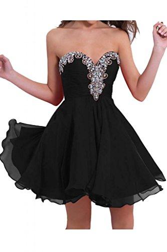 Victory bridal ladies'fashion tendance abendkleider avec étoiles robe courte en mousseline de danse cocktailkleider sommerkleider brautjungfernkleider Noir