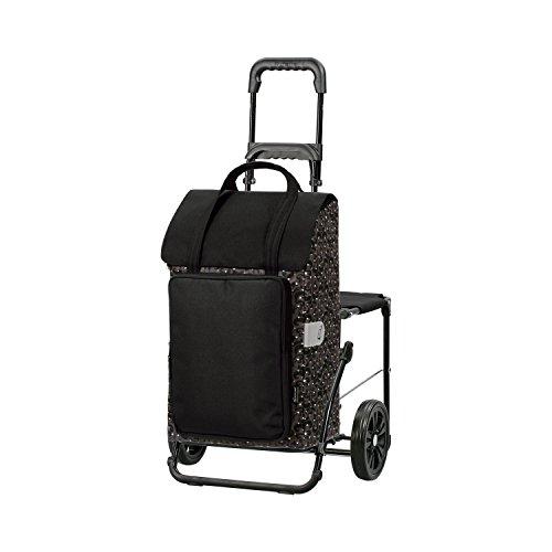 Andersen Shopper Komfort mit Sitz und 48 Liter Tasche Mimi gold mit Kühlfach