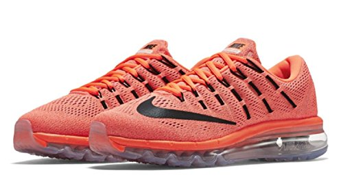 Nike Unisex-Erwachsene Wmns Air Max 2016 Laufschuhe, Grau Orange (Hyper Orange / Schwarz-Sunset Glow)