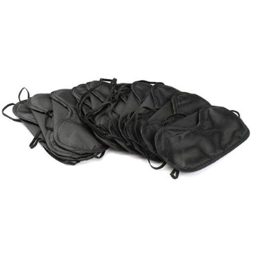 Preisvergleich Produktbild 10 Augenmasken zum Schalfen Schlafmasken Schlafbrillen in Schwarz (10 eye mask)