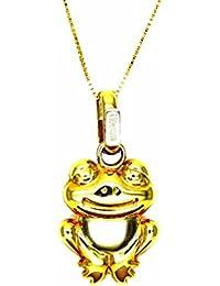 540af9010f01 Pegaso Joyería – Collar oro amarillo 18 kt Veneta colgante rana rana bicolor  ...