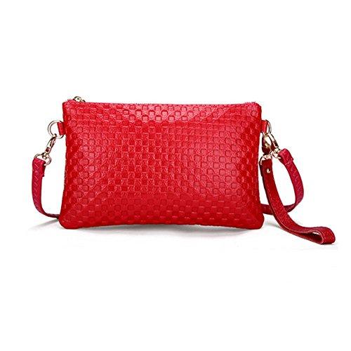 Eysee, Poschette giorno donna Rosso Azzurro 21cm*13cm*1cm. rosso