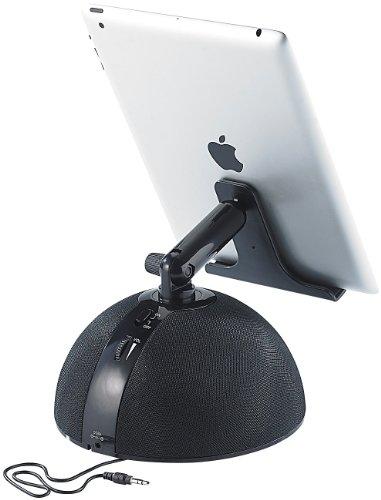 auvisio Sound Docks Tablet: Aktive Universal-Sound-Station MSS-240.k für iPad & Tablet-PC (iPadständer)