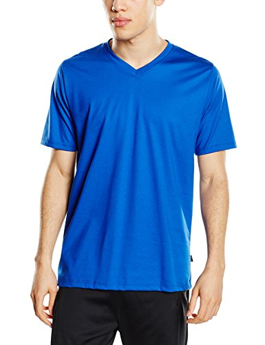Trigema Herren V-Shirt Deluxe Baumwolle, T-Shirt Uomo Blau (royal 049)
