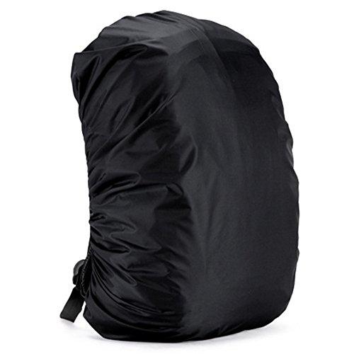 zantec Rucksack Regen Abdeckung verstellbar wasserdicht staubdicht tragbar Ultralight Schulter Tasche Schutzhülle Regenschutz Schutz für Outdoor Camping Wandern 35 Liter schwarz (Regen Stiefel Tragetaschen)