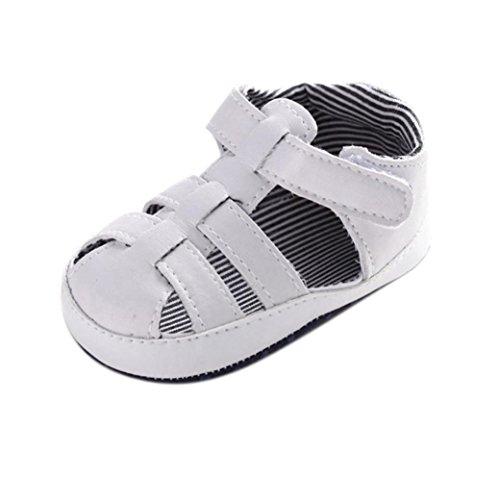 Zapatos bebé, Culater sandalias recién nacidos 0~18 meses (06~12 Meses, Blanco)