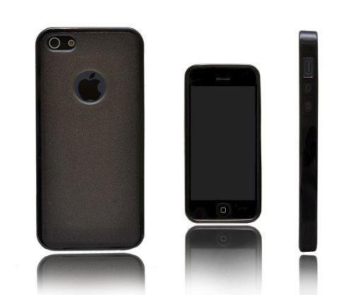 Xcessor Impact Caoutchoutée TPU Gel Dur Dos Étui Coque Housse Pour Apple iPhone 5 et 5S. Bicolore Flexible en TPU. Rose / Translucide Black/Grey/Semi Transparent