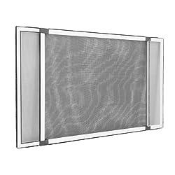 Insektenschutzrahmen Schiebfix/Fliegengitter/für Fenster, Balkontür, Terrassentür mit Rollladenführung, 100 x 75 cm (ausziehbar bis 193 cm)