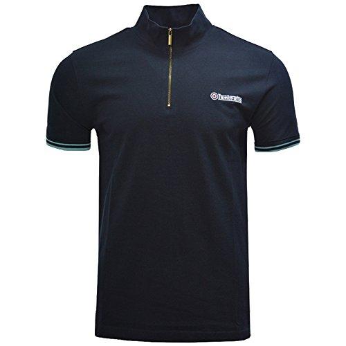 Lambretta Polo Shirt Twin Tipped Sleeve 1/2 Zip Cycling Shirt Mens SS3977 S-4XL