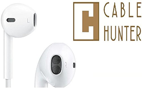 Cable Hunter™ Top Selling 3.5MM Earpods Handsfree For Apple Iphone, Ipad, Ipod, android devices- White - 2 Years Warranty
