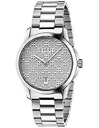 Reloj Gucci Hombre ya126459 al cuarzo (batería) acero quandrante acero  correa acero e07eb853f7c