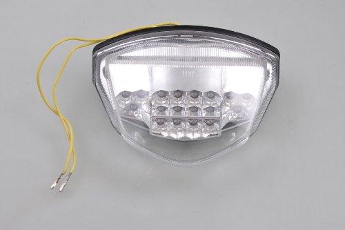Wotefusi Moto LED Arrière Queue Lumineux Clignotants pour Suzuki Gsxr 1000 07 08