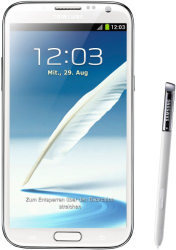 Samsung Mobile Samsung Galaxy Note II N7100 Smartphone 16GB (14 cm (5,5 Zoll) AMOLED-Touchscreen, Quad-core, 1,6GHz, 8 Megapixel Kamera, Android 4.1) marble-weiß