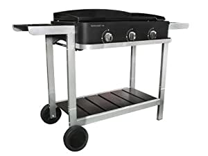 Cook'in Garden - Plancha gaz sur chariot Wissant 76 - 3 brûleurs