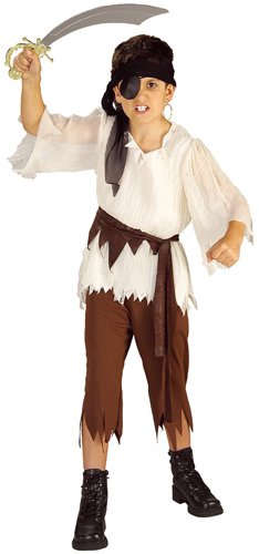 BOYS PIRATE KING FANCY DRESS COSTUME CARIBBEAN
