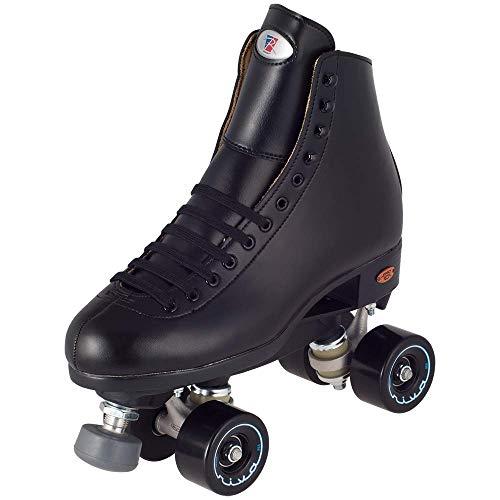 Unbekannt Riedell Skates Angel Junior Artistic Quad Rollschuhe, Mädchen, schwarz, Size 11